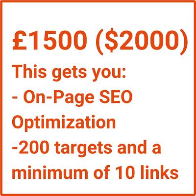 £1500 ($2000) link building package